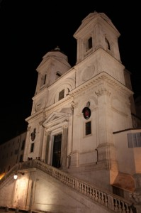 At the top of the Spanish Steps... Chiesa della Trinta dei Monti